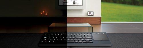 Дешевая распродажа: клавиатура для гостиной с подсветкой Logitech K830