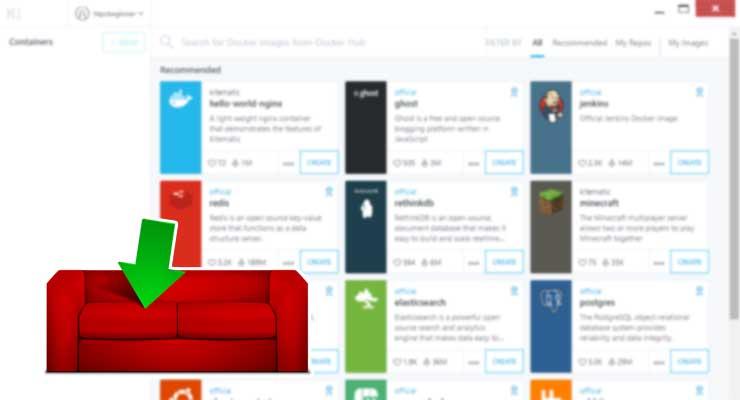 Как установить CouchPotato на Docker с помощью графического интерфейса Kitematic?