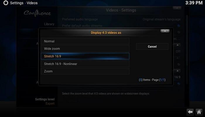 Руководство: Как использовать Kodi Full Screen для старых видео 4: 3?