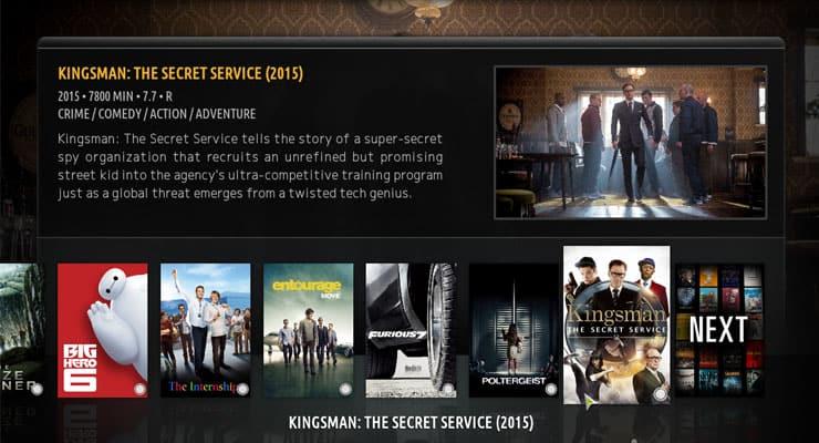 Kodi Amber Skin Review: лента Kodi Skin для сенсорных экранов