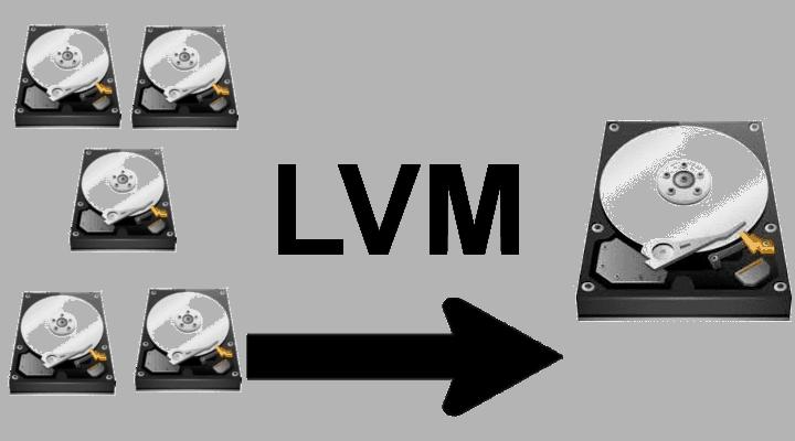 Настройка LVM и пул жестких дисков в Ubuntu или Kodibuntu