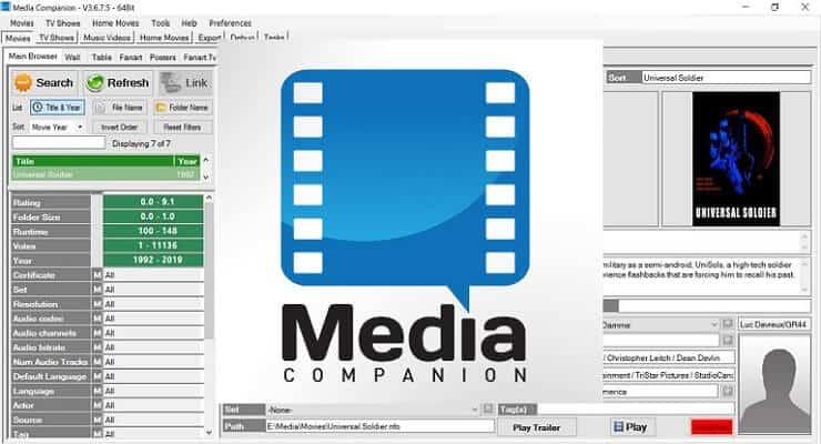 Организуйте Медиатеку с Media Companion - Artwork, Plot, Ratings