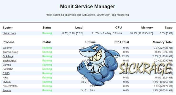 Monit: контролировать состояние процесса SickRage