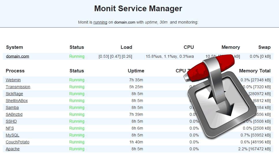 Monit: контролировать состояние процесса передачи