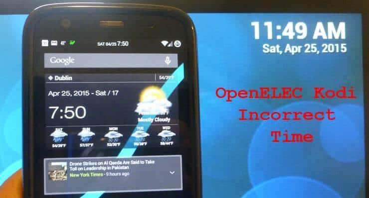 Как исправить неверное время OpenELEC на Raspberry Pi 1 и 2?