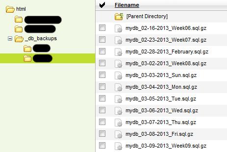 Автоматическое резервное копирование базы данных MySQL на хостинге GoDaddy