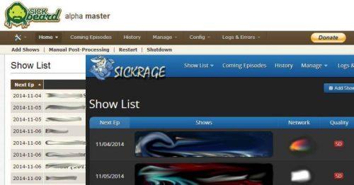 Как перенести библиотеку шоу из SickBeard в SickRage?