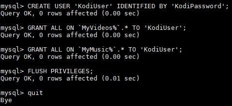 Настройка Kodi MySQL для совместного использования медиа библиотеки