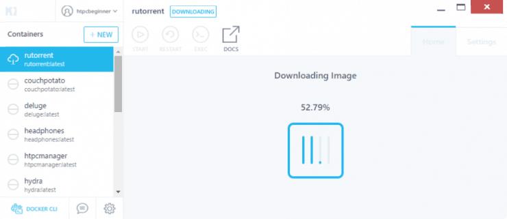 Как установить RuTorrent на Docker с использованием графического интерфейса Kitematic?