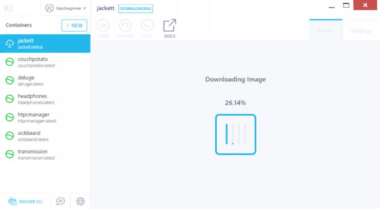 Как установить Jackett на Docker с использованием графического интерфейса Kitematic?