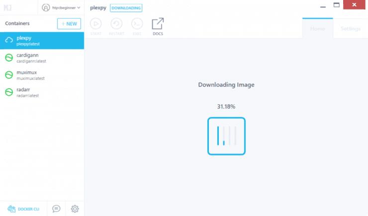 Как установить PlexPy на Docker с использованием графического интерфейса Kitematic?