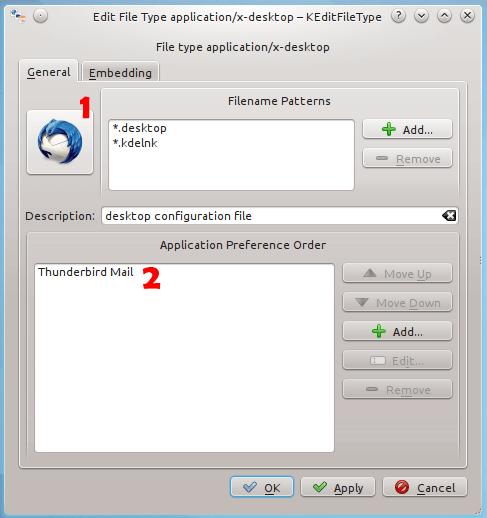 Создать ярлык для профиля Thunderbird в Linux