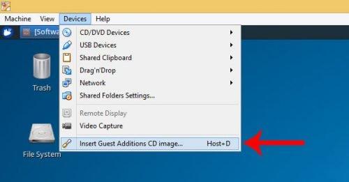 Установите гостевые дополнения VirtualBox в Ubuntu и Debian