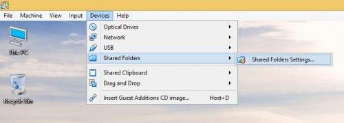 Настройка общих папок VirtualBox на хостах Windows или Linux