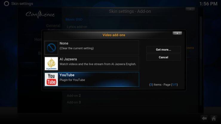 Как добавить ярлык избранного на домашний экран Kodi