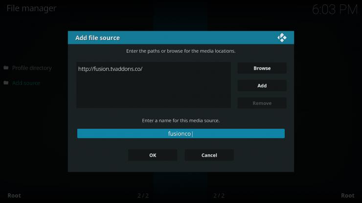 Как установить исходный код Fusion Installer в Kodi: Fusion Installer для Kodi