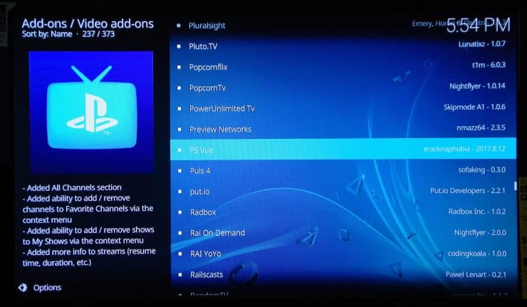 Руководство: Как установить PlayStation Vue на Kodi: смотрите PS Vue на Kodi