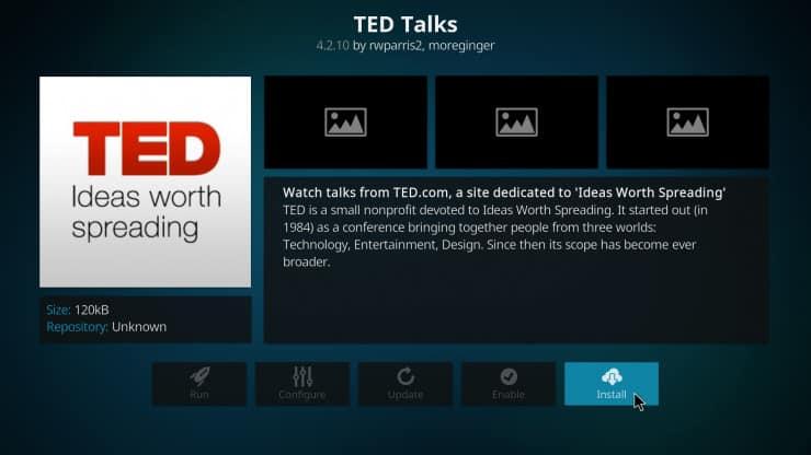 Как смотреть TED Talks на Kodi HTPC? - Коди TED Talks Аддон