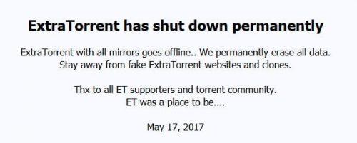ExtraTorrent альтернатива ExtraTorrent.cd - не воскресший ExtraTorrent