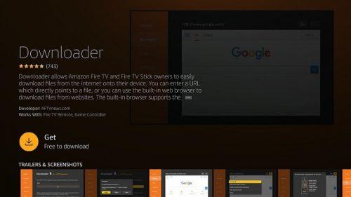 Загрузка приложений на Fire TV с помощью приложения Fire TV Downloader - метод 3