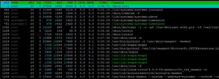 Введение в SSH и htop для Linux Server Monitoring из командной строки