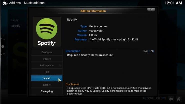 Руководство: Как установить Kodi Spotify Addon на свой медиацентр?