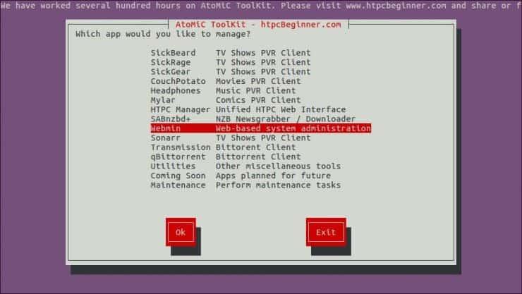 Установите Webmin на Ubuntu Server - простой метод AtoMiC