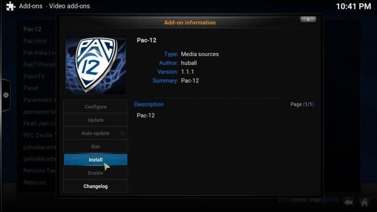 Руководство: Как установить аддон Kodi Pac 12 на свой медиацентр