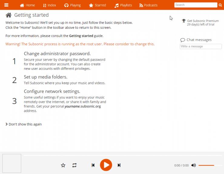 Установите Subsonic на Ubuntu - потоковая музыка и видео с сервера
