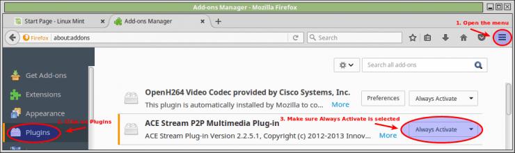 Установите Acestream на устройстве Linux Mint 18 в несколько простых шагов