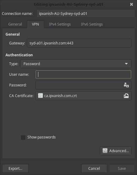 Руководство: Как установить IPVanish OpenVPN на Linux Mint 18?