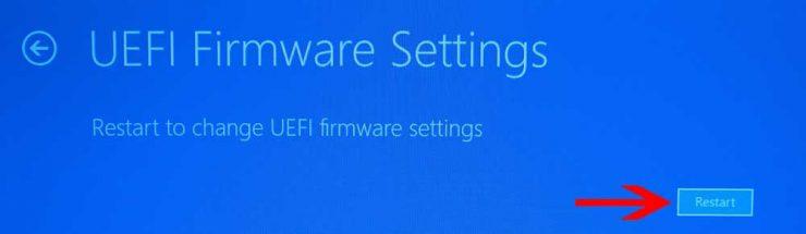 Включить аппаратную виртуализацию VT-x / AMD-V в BIOS или UEFI