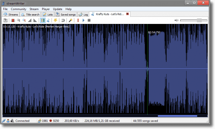 Взрыв в прошлое с интернет-радиостанцией StreamWriter