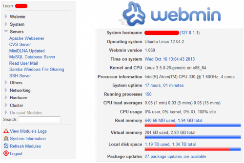 Выпущен Webmin 1.820: установка и обновление
