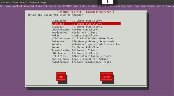 Установите SickRage на Ubuntu Server - простой метод AtoMiC