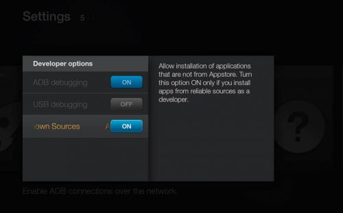 Установите SPMC на Amazon Fire TV, используя только устройство AFTV