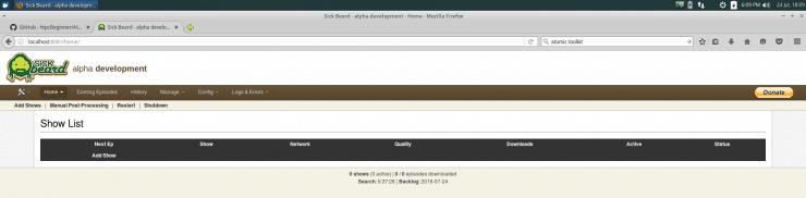 Установите SickBeard на Ubuntu Server - простой метод AtoMiC
