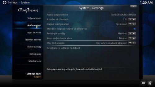 Kodi Audio Settings: понимание параметров звука