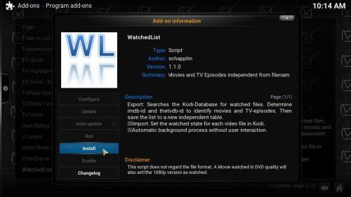 Руководство: Как установить и настроить аддон Kodi WatchedList