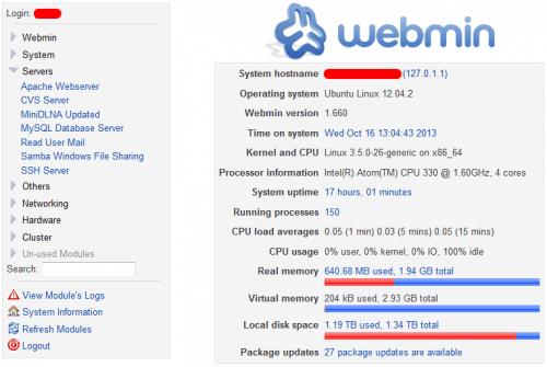 Выпущен Webmin 1.801: установка и обновление