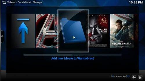 Руководство: Как установить аддон Kodi CouchPotato Manager