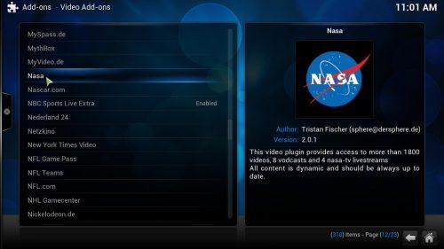 Руководство: Как установить научный канал NASA Kodi