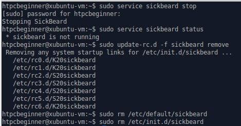 Как правильно удалить Sickbeard в Ubuntu Linux?
