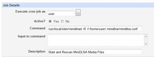 Легко создавайте работу cron с помощью Webmin в Linux