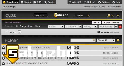 Выпущено SABnzbd 0.7.19: установка и обновление