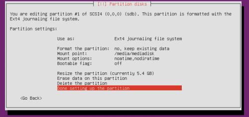 Схема разделов сервера Ubuntu для домашнего сервера