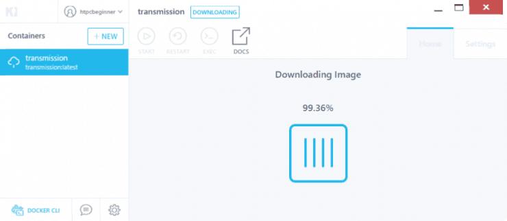 Как установить Transmission на Docker с использованием графического интерфейса Kitematic?