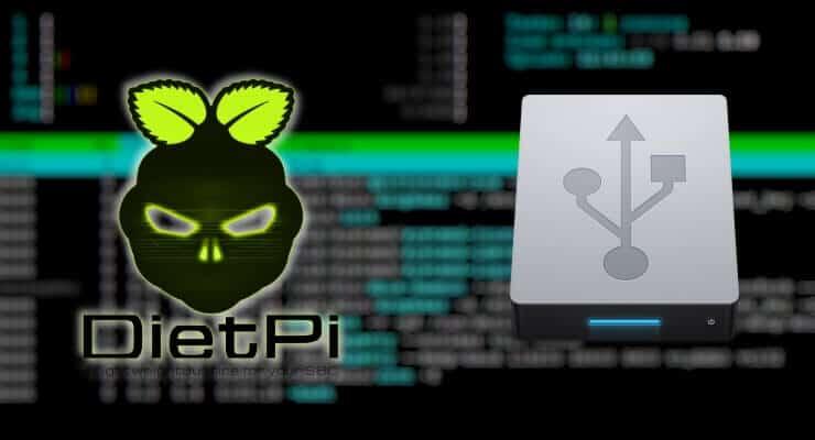 Настройка USB-накопителя для хранения на Diet Pi для Raspberry Pi и Odroid C2