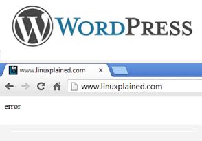 Исправление для WordPress пустой страницы со словом «ошибка»