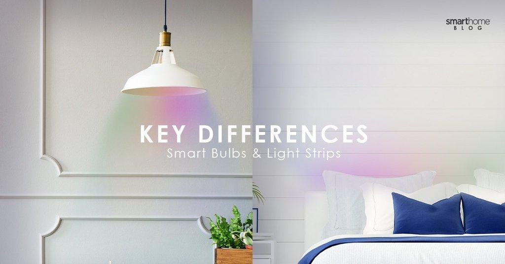 Ключевые различия между умными лампами и умными световыми полосами